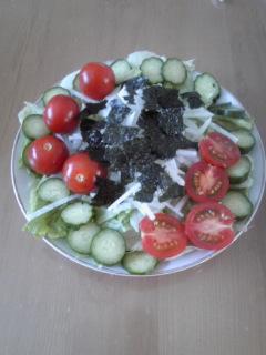 みーちゃんの作ったサラダ
